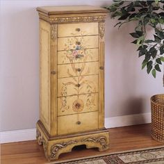 powell masterpiece handpainted wood jewelry armoire antiqued parchment by powell furniture http amazoncom antique jewelry armoire