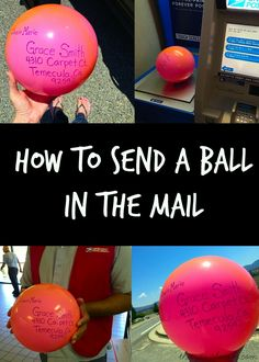How to send a ball or other unusual items in the mail. SO much fun to do this and really easy inexpensive to do!