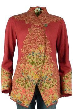 Ivko Woman Vasilisa The Beautiful Cherry Floral Jacket. 42518