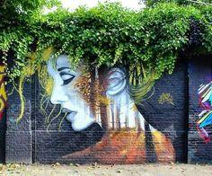 Mother Nature Street Art by Vyrus Art