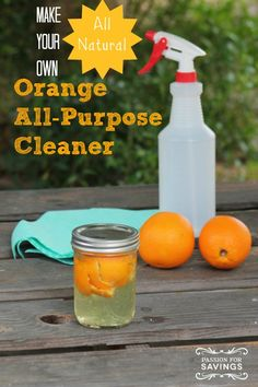 Check out this DIY Orange All-Purpose Cleaner for an All Natural Cleaner that you can Make at Home!
