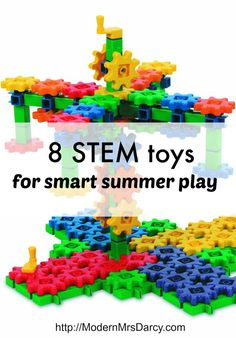 Want your kids to build skills in science, technology, engineering, and mathematics this summer? Point them in the direction of these terrific #stem focused toys—they'll be having so much fun they won't even know they're learning.