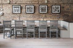 Harrogate 310cm Table with Harrogate chairs painted in Fog #neptune #diningfurniture #limehouse www.neptune.com