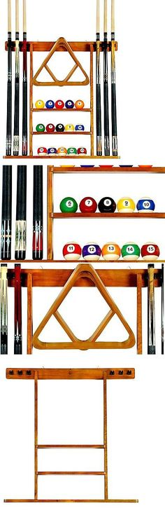 Ball And Cue Racks 75185: Pool Table Rack Holder Accessories Cue Stick  Billiard Ball Storage
