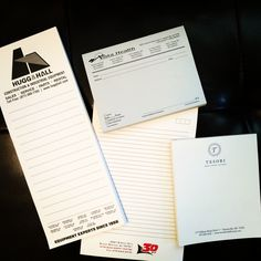 Custom notepads in all shapes and sizes. #print #moxyox #notepads #todolists
