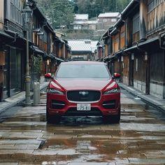 Street style. Image captured by @jibesy. #Jaguar #FPACE #Performance #SUV #Kanazawa #Japan #CarGramm