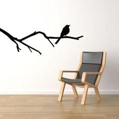 Bird on a branch wall decal  Modern home decor par stickerzlab, €8,00