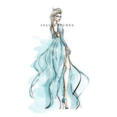 Disney Re-Imagined ELSA Printable Art by EliSketches on Etsy