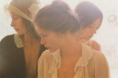 Photo by David Hamilton, 1970s. The full, loose bun, high on the head was a popular look in the 70s