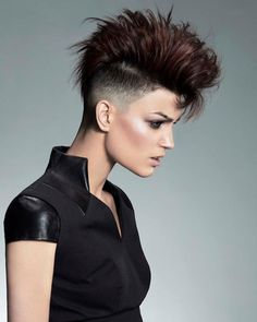krótkie fryzury damskie wygolone boki - Szukaj w Google