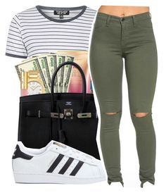 """Untitled #443"" by mindset-on-mindless ❤ liked on Polyvore featuring beauty, Topshop and adidas"