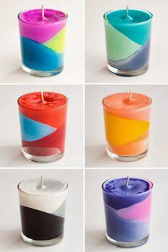 Magnificas velas hechas con crayolas - Manualidades para el Hogar ~ Un Mundo de Manualidades