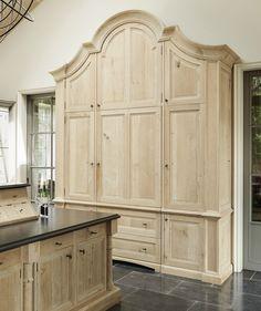Kitchen decor, Kitchen designs, Kitchen decorating ideas - Bespoke Larder- Minnie Peters http://www.minniepeters.com/ integrated custom panel refrigerator armoire