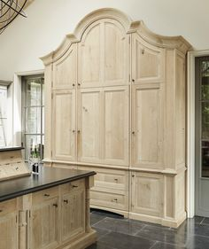 Kitchen decor, Kitchen designs, Kitchen decorating ideas - Bespoke Larder- Minnie Peters http://www.minniepeters.com/ integrated custom panel refrigerator armoire