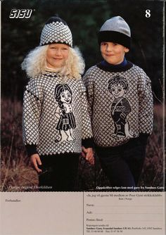 pattern for knitting (Norwegian)  Sandnes garn