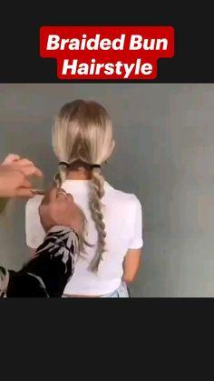 Braided Bun Hairstyles, Easy Hairstyles For Long Hair, Hairstyle Hacks, Hairdos, Updo, Medium Hair Styles, Curly Hair Styles, Hair Upstyles, Great Hair