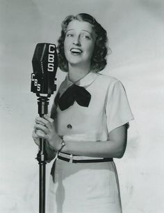 From an original negative, Jeanette MacDonald on Columbia Broadcasting System Radio's Vick's Open House. - ESCANO COLLECTION