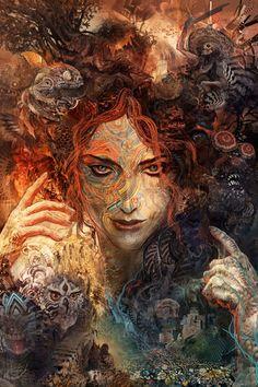 "Third Eye Tapestries- ""Pareidolia"" by Android Jones"