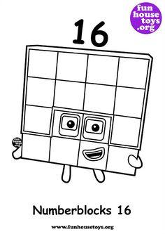 Numberblocks 10 printable coloring