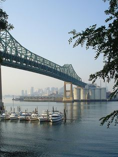 The Tobin Bridge. Taken in Chelsea on the sore of the Mystic River facing Boston.