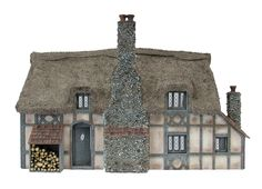 1:48th Woodnook Cottage By Bea Broadwood of www.petite-properties.com (Image shows a constructed & decorated kit)