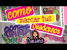 Como marcar tus cuadernos, 2019. ARTÍSTICA - YouTube Videos, Broadway Shows, Signs, Youtube, Notebooks, Artists, Shop Signs, Youtubers, Youtube Movies