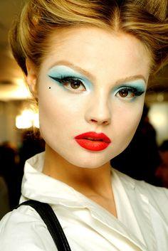 Reminds me of vintage Barbie makeup