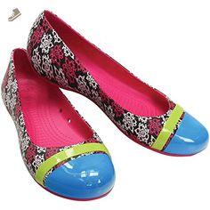 1622faf5c011c crocs Women s Cap Toe Mondo Roses Ballet Flat