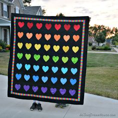 de Jong Dream House: Quilt #64: 49 Hearts #quiltsforpulse