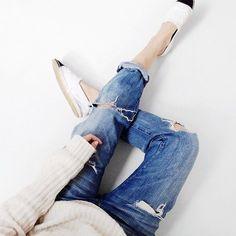 @mija_mija Instagram Current/Elliott Jeans Chanel Espadrilles