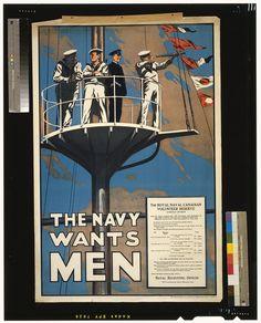 The Navy wants men 1915
