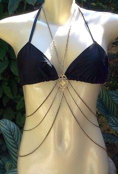 Body chain colar de corpo diva Rihanna