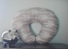 Boppy Cover in Light Gray Arrows by LouLouMade on Etsy