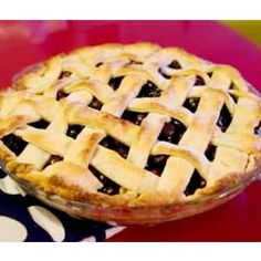 """Blueberry Pie, By: ASHESP   """"This is the best when made with fresh picked blueberries! It is a beautiful sight with a lattice top."""""""