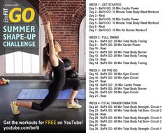 Take the BeFit Go Summer Shape-Up Challenge.