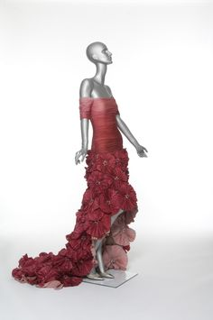 'Fiesta,' a strapless cocktail dress in draped tulle from one of the designer's first collections in 1959.