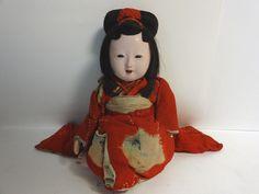 Japanese Gofun Ichimatsu Sitting Girl Fitted Glass Eyes Kimono Meji Very RARE | eBay