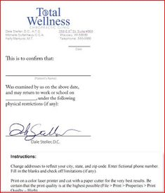 Doctors note template 8 tips best fake doctors notes pinterest sample doctors note template free doctors notes for work pronofoot35fo Gallery
