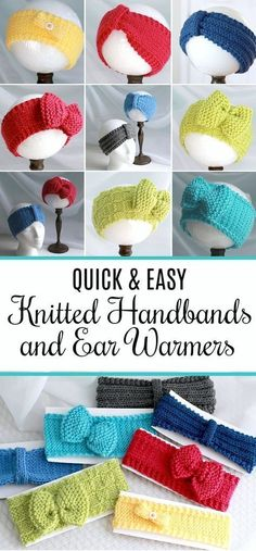 Keep those noggins warm with easy knitted headbands and ear warmers. Keep those noggins warm with easy knitted headbands and ear warmers. Always wanted to discover how to kni. Easy Knitting Projects, Knitting Blogs, Knitting For Beginners, Free Knitting, Knitting Tutorials, Knitting Machine, Vintage Knitting, Knitting Ideas, Crochet Projects
