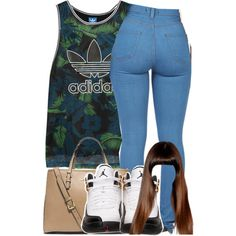 ~Clinnè by trillest-queens on Polyvore featuring adidas Originals and Michael Kors