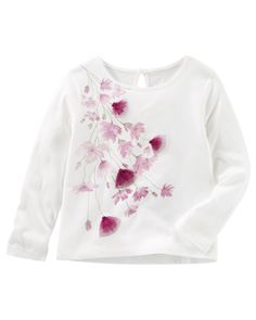 Baby Girl Flower Keyhole Top from OshKosh B'gosh. Shop clothing & accessories from a trusted name in kids, toddlers, and baby clothes.