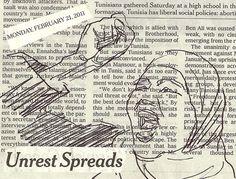 Unrest Spreads #newspaper #art