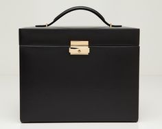 LARGE JEWELLERY CASE: SIDE PANEL DOORS, 5 DRAWERS, TRAVEL CASE