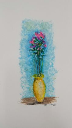 Oil pastel ... Jeff Lee Thomson
