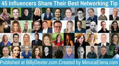 45 Social media, PR, and blogging influencers share their best tips for networking, both at live events and online. Click here to find out what they had to say.