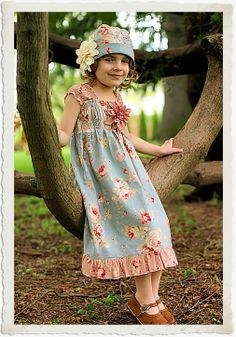 TEA ROSE Dress and Hat from Mamapatrice Custom by mamapatrice