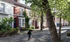 One of the streets in Toxteth revdeveloped by the Granby Four Streets community land trust. The Liverpool locals who took control of their long-neglected streets.  A rare success after New Labour initiatives drained the area of life