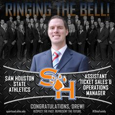 Drew Shaw ('15) Asst. Ticket Sales & Operations Manager  Sam Houston State Athletics