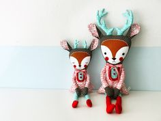Two wonderful deer-dolls which won the #DaWanda / #Graziela contest. Wondercute. Congrats to Suse from #Revoluzzza! :)