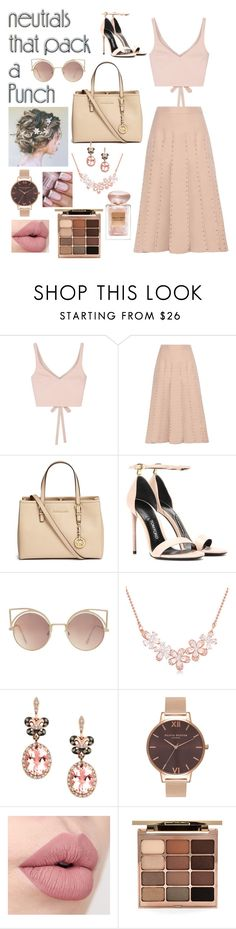 """Neutral?"" by music-is-bond ❤ liked on Polyvore featuring Elizabeth and James, Valentino, Michael Kors, Tom Ford, MANGO, Effy Jewelry, Olivia Burton, Stila and Giorgio Armani"